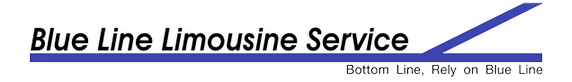 blue line limo logo